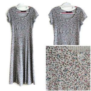 Vtg 90 All That Jazz Floral Dress Grunge 9 T13